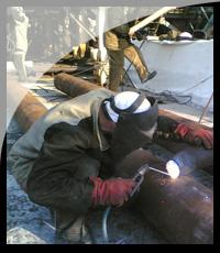 Сварочные работы на установке АТ-6